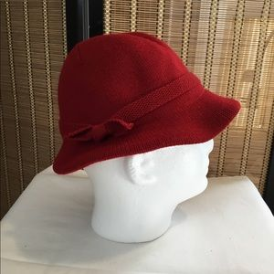 Red Isotoner Knit Hat